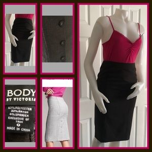 Body by Victoria VS Brown Pencil Skirt 0